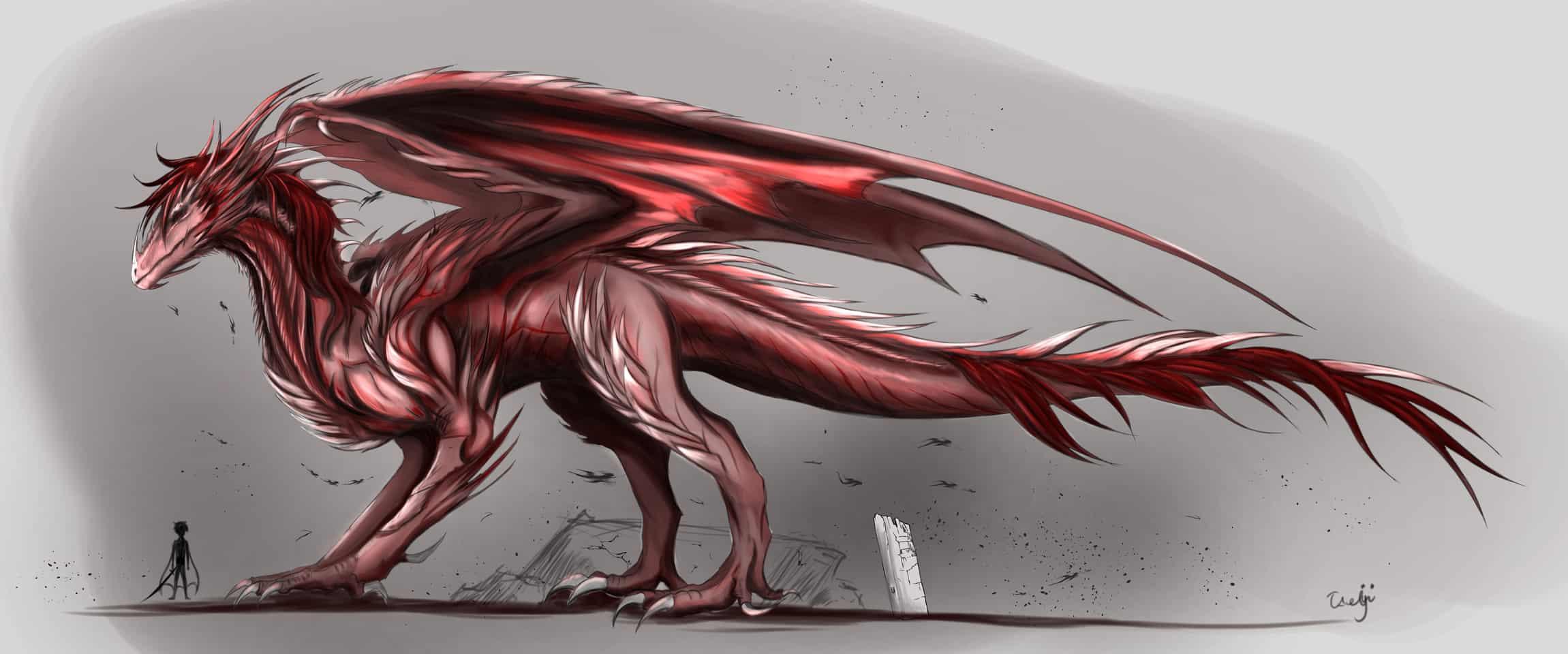 Monster Hunter Elder Dragon design. Illust of Takeji digital dragon creature oc anime Dragons monster