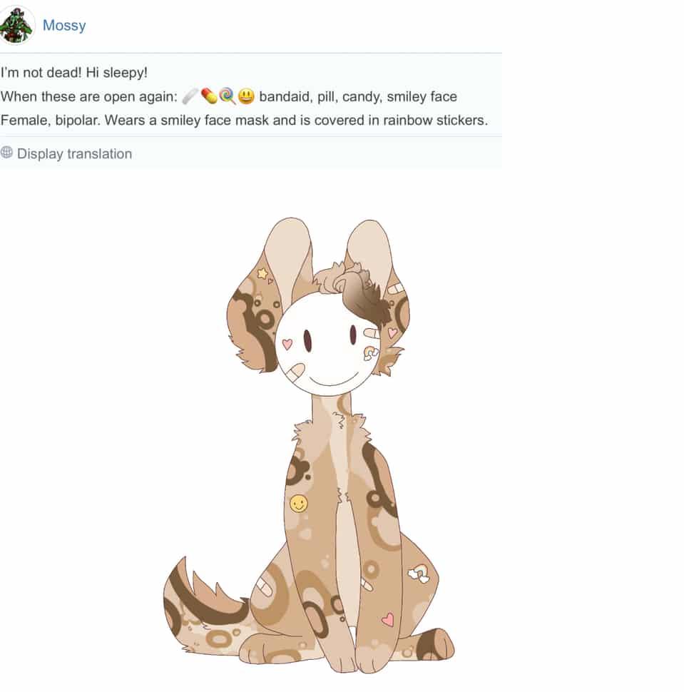 Emoji oc for Mossy! Illust of Sleepyxx (DEAD ACCOUNT)