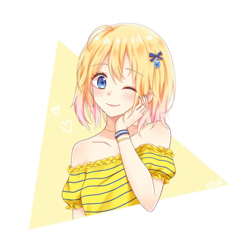 鮮黃色 Illust of 杏茶@仕事募集中 MyIdealWaifu_MyIdealHusbandoContest MyIdealWaifu cute girl blonde woman yellow
