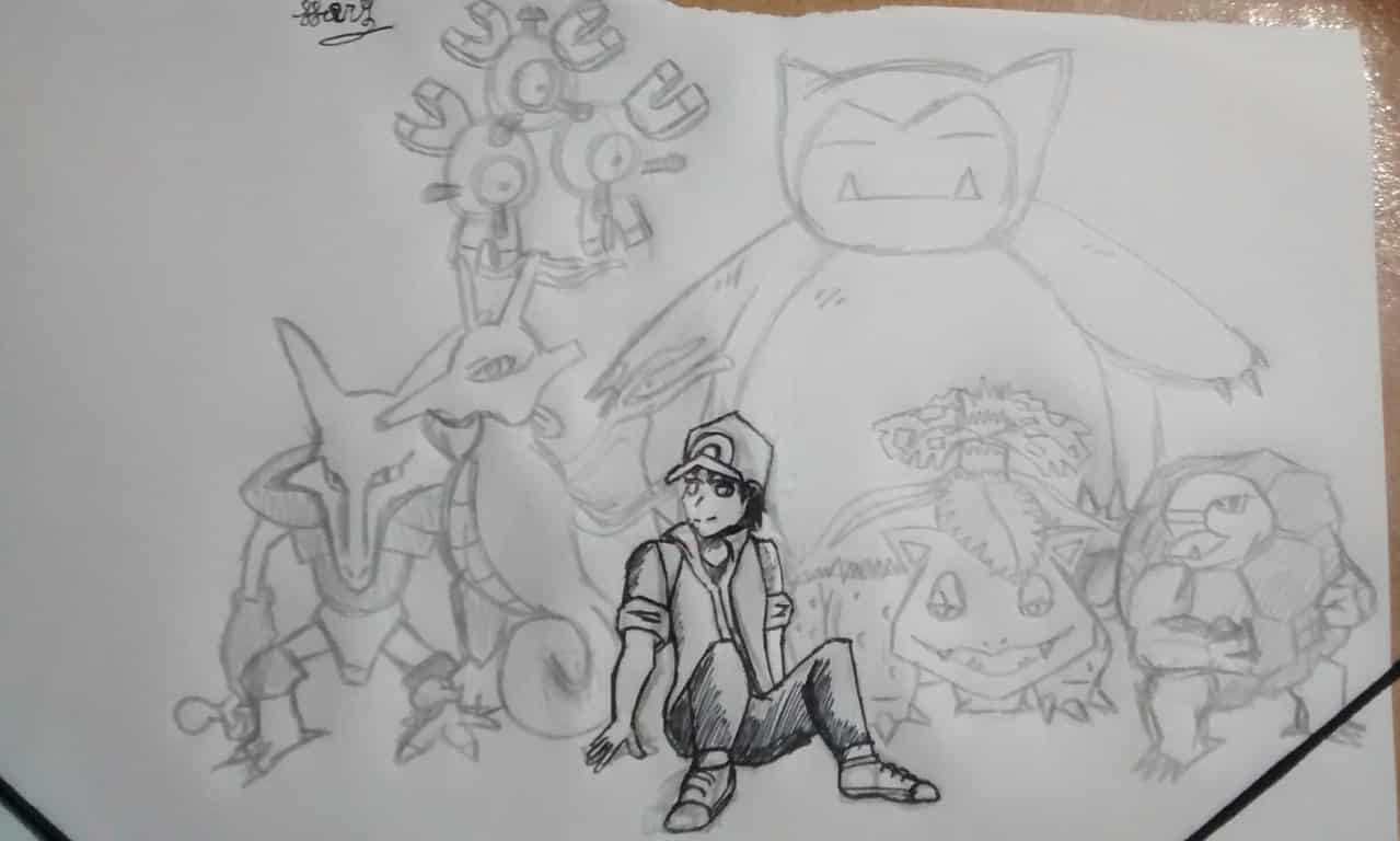 Dibujo para no estar inactivo(¿ Illust of Hory Nose pokemon Hory :v