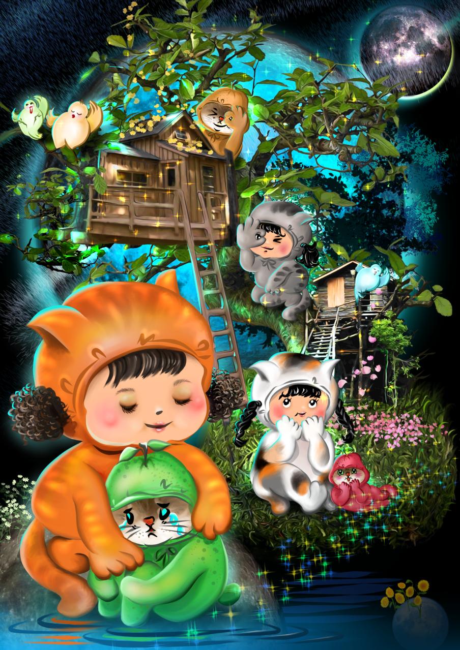 Green planet   愛畫畫的沐娜 Illust of muna September2020_Contest:Furry digital painting girl