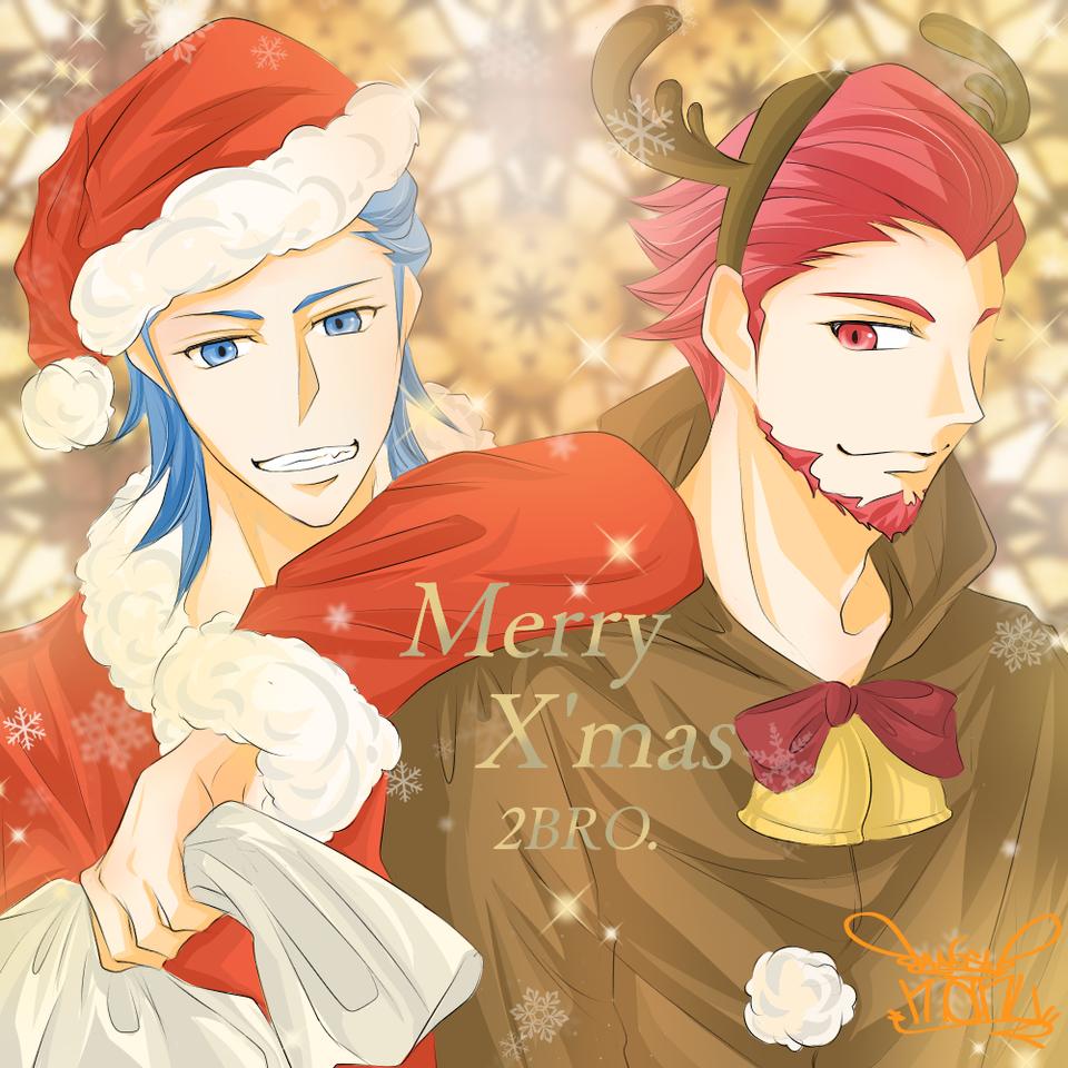 Xmasシリーズ♪   兄者弟者さん♪ Illust of Manu Christmas digital カラー 2BRO. ゲーム実況者 color illustration 兄者弟者 YouTuber