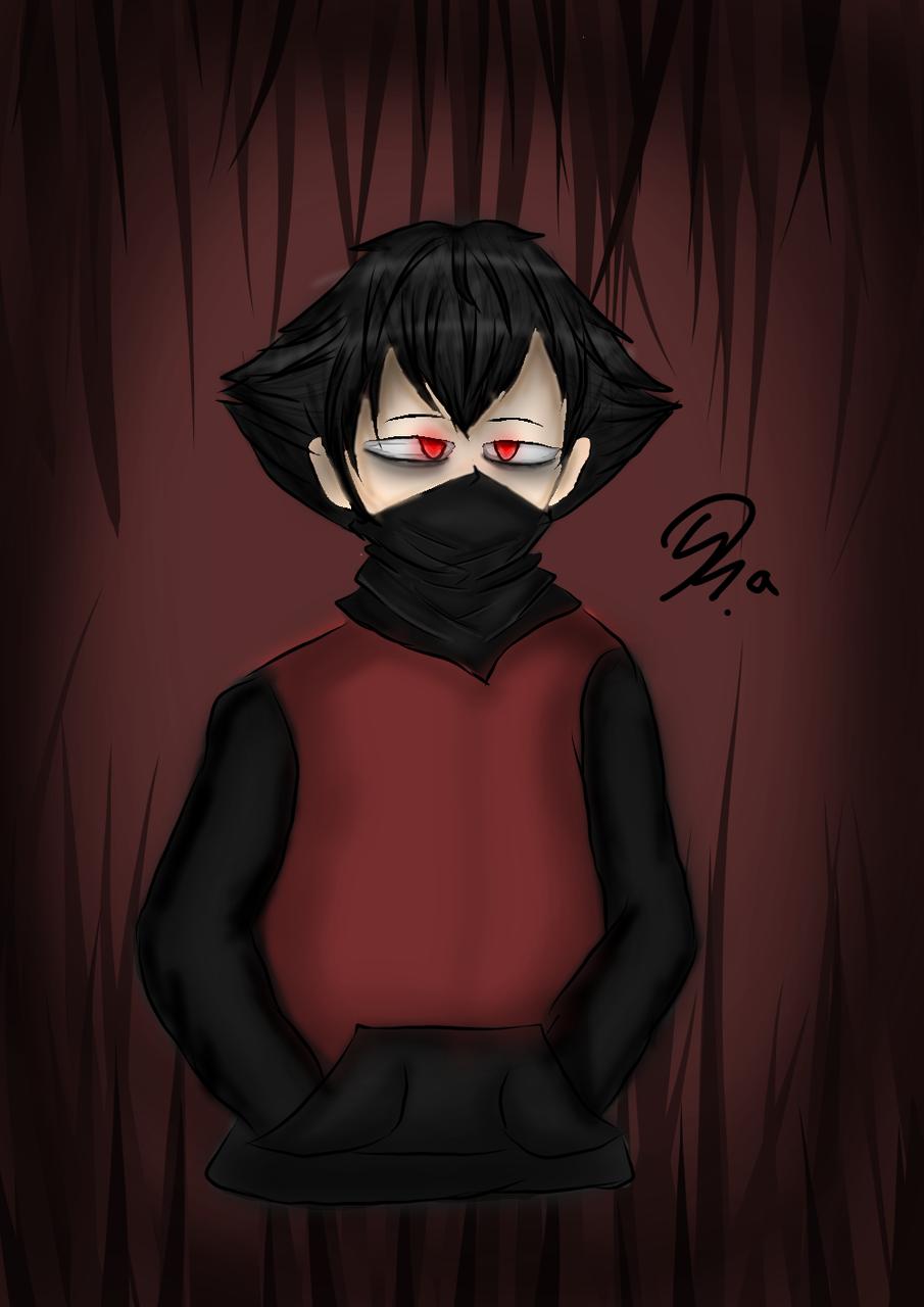 🖤Dark❤️ Illust of Ph@nt0m medibangpaint red sad boy Dark