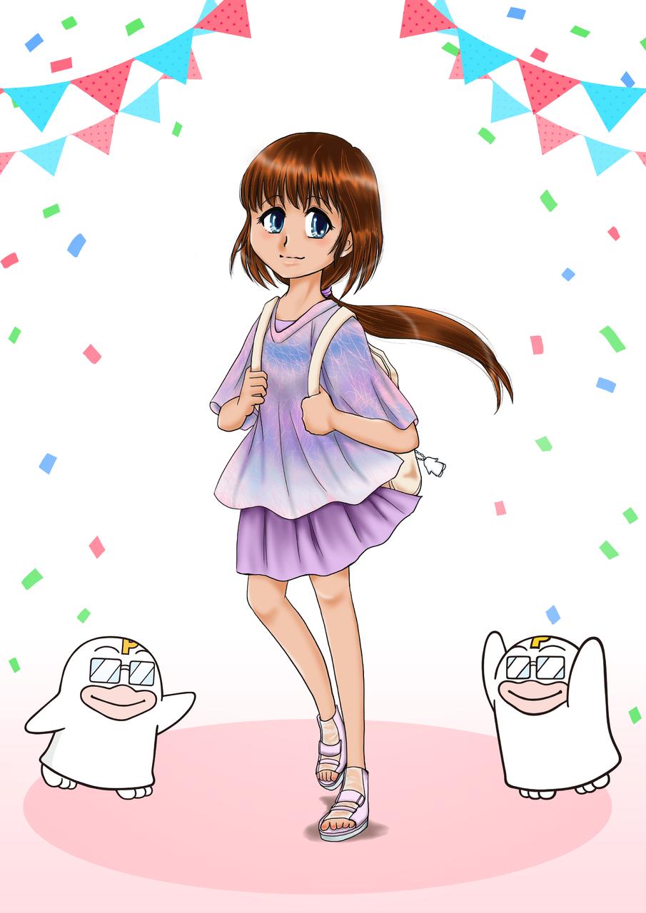 今日はどこ行く? Illust of みののうさぎ PICO公式キャラクターPICOQガールフレンド大募集!!コンテスト