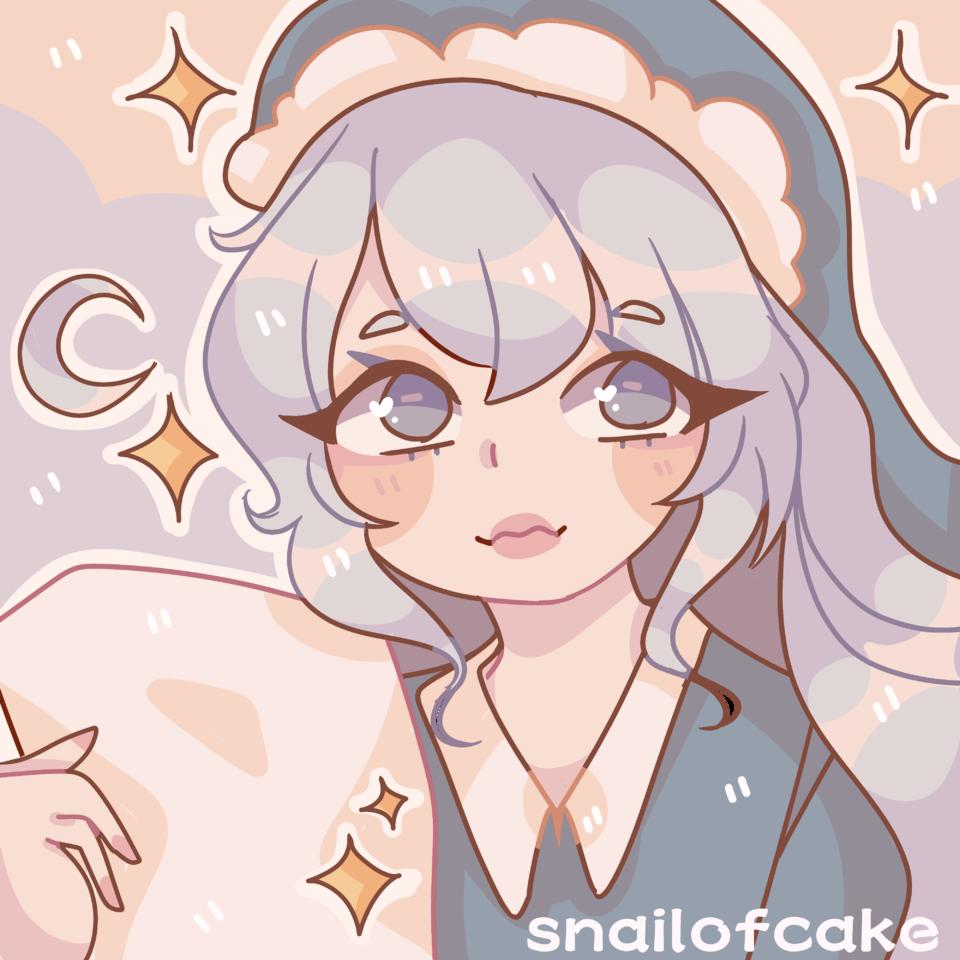 Sleepy girl Illust of snailofcake original mediabangpaint art Artwork kawaii cute anime aesthetic pastel oc