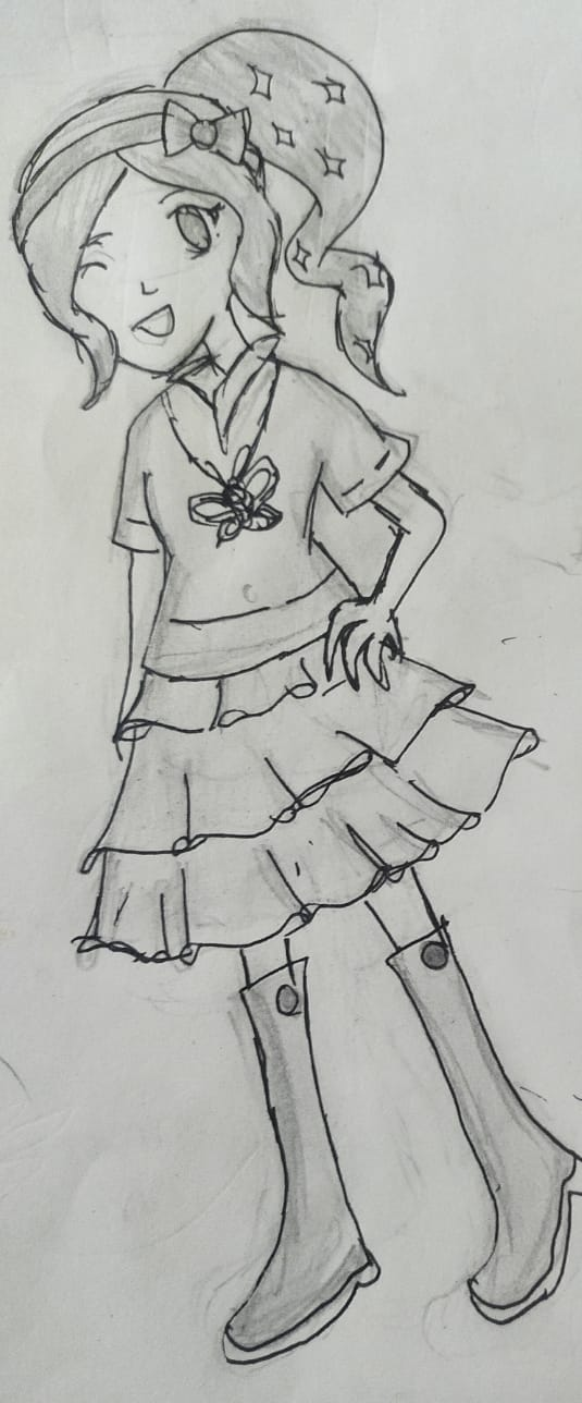 Remake of Mimey's outfit  Illust of Adya black sketch adya new anime mimey animegirl