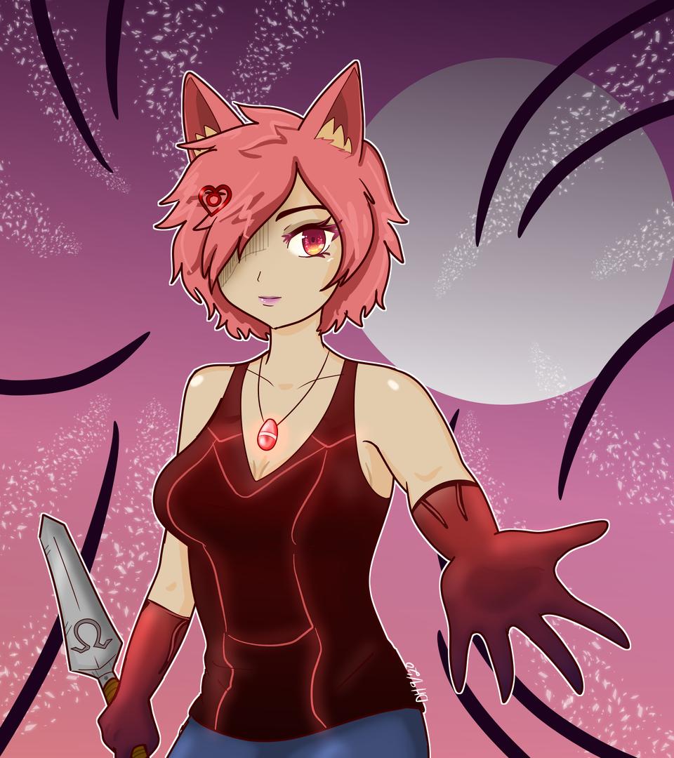 Omega Illust of DanDraw Post_Multiple_Images_Contest nekogirl girl pinkhair cat_ears Omega