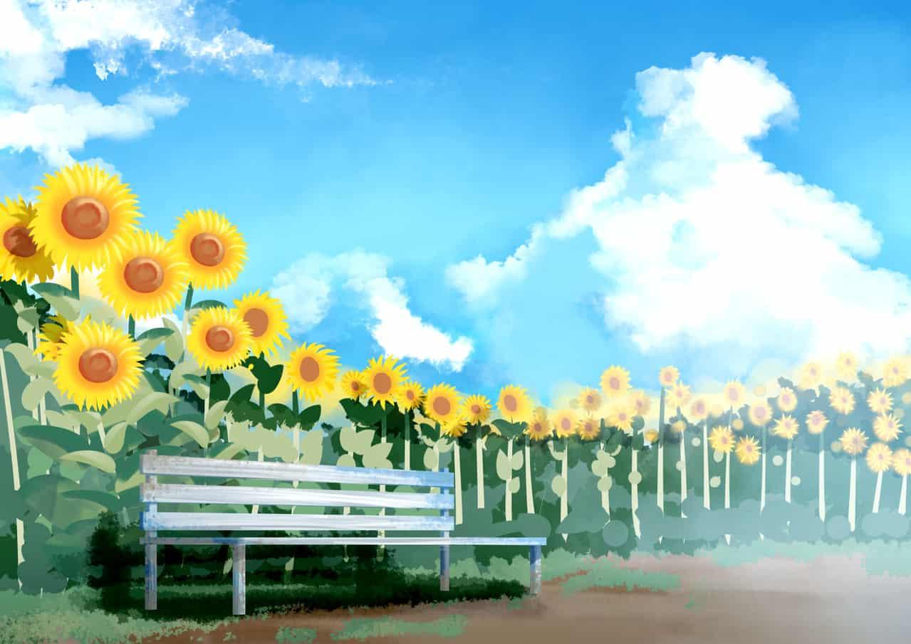 【背景ワンドロ】ひまわり Illust of Kono background ワンドロ ひまわり