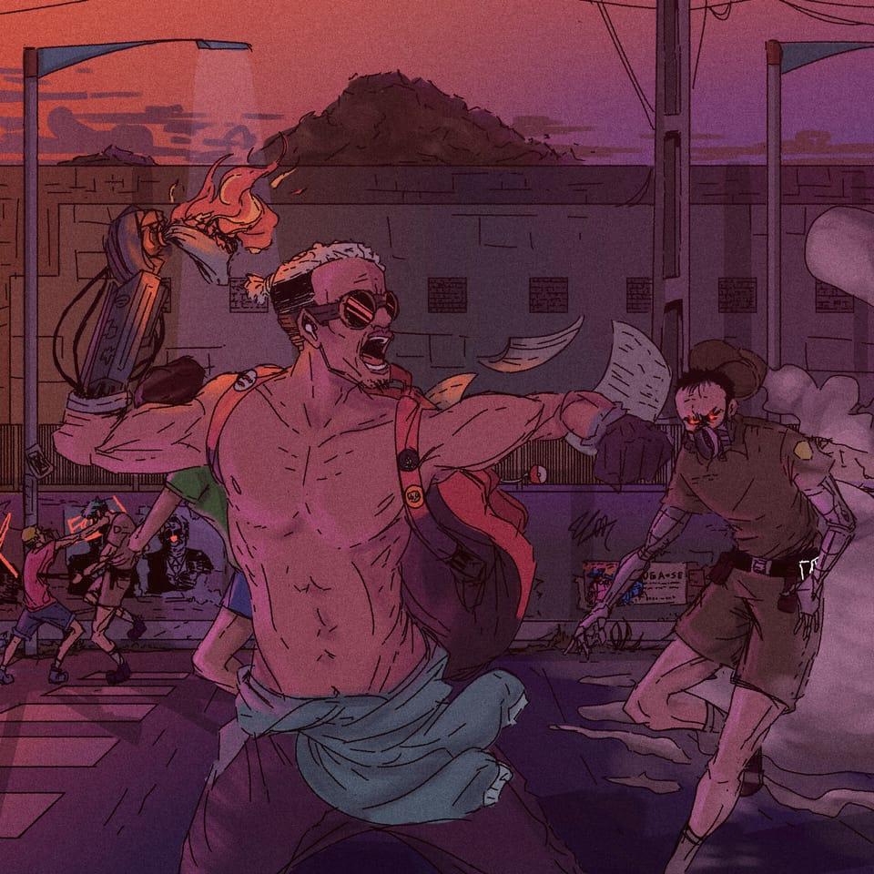 Cyber Fortal City Illust of Luanzito November2020_Contest:Cyberpunk digital painting cyberpunk illustration Brazil