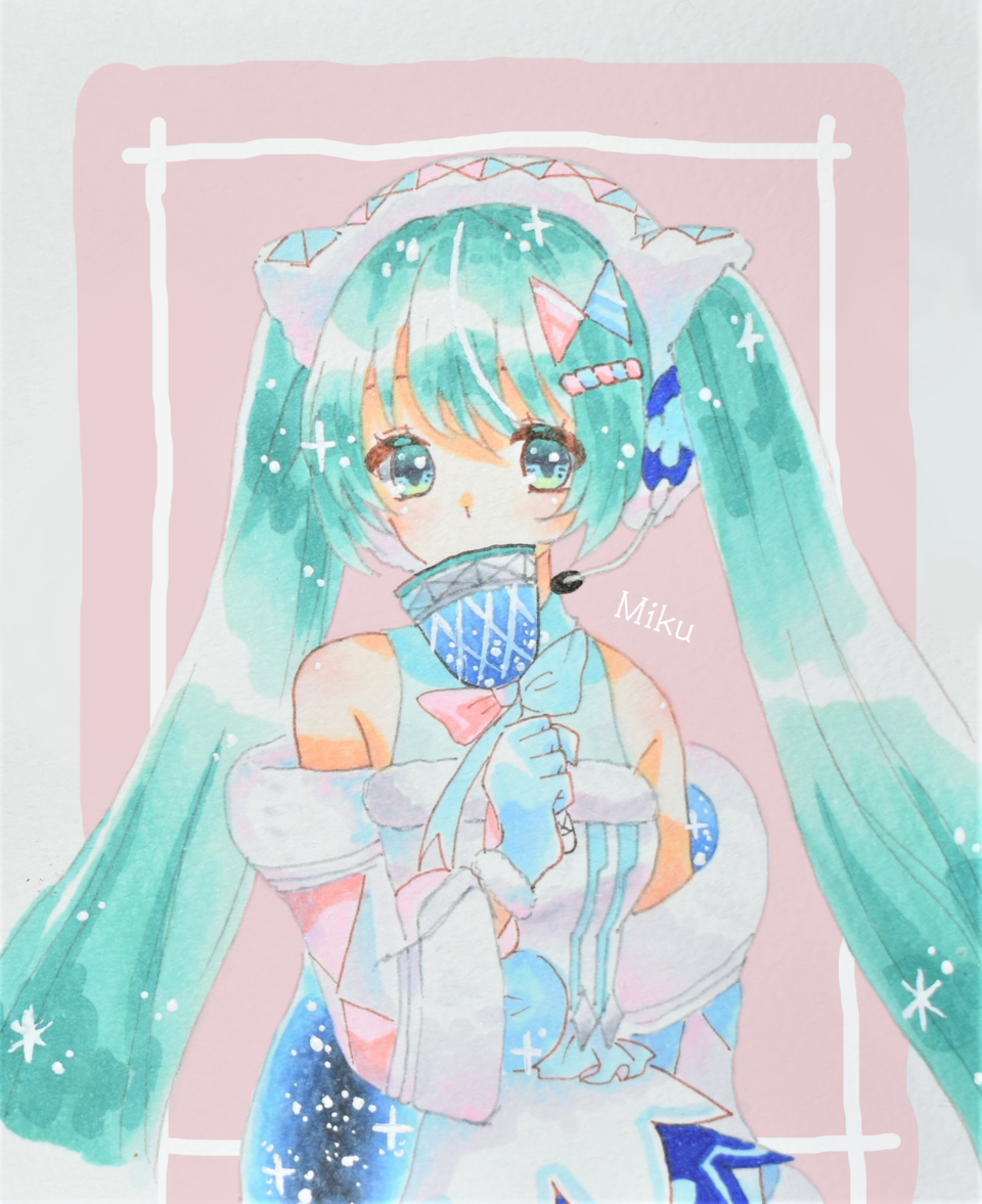 autumoonさんリクエスト Illust of ゆすらうめ hatsunemiku アナログ マジカルミライ2020 request Copic マジカルミライ