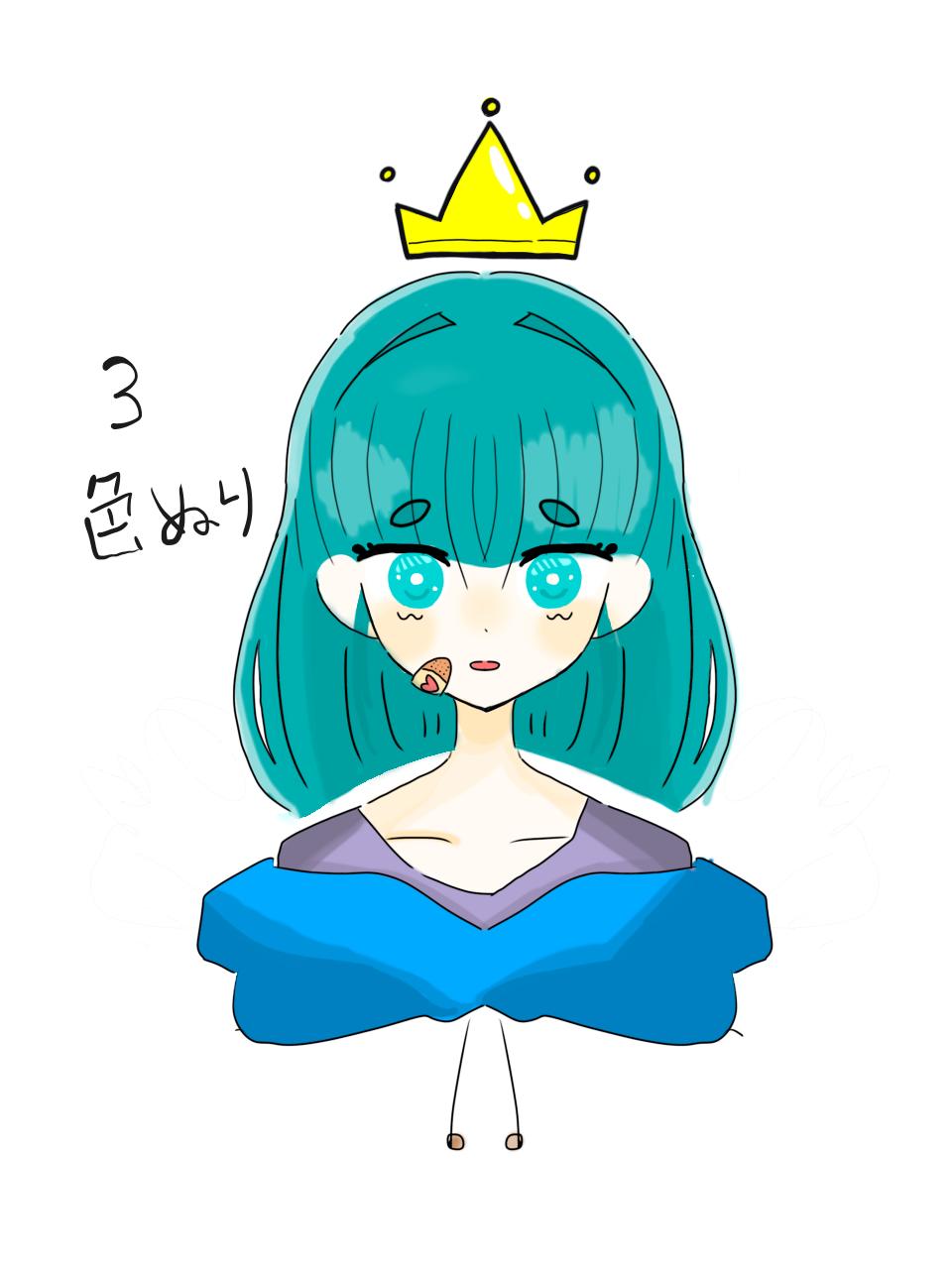 OHちゃんのリク(絵を描く工程) Illust of ゆずりは request girl 絵の描き方 blue 私流