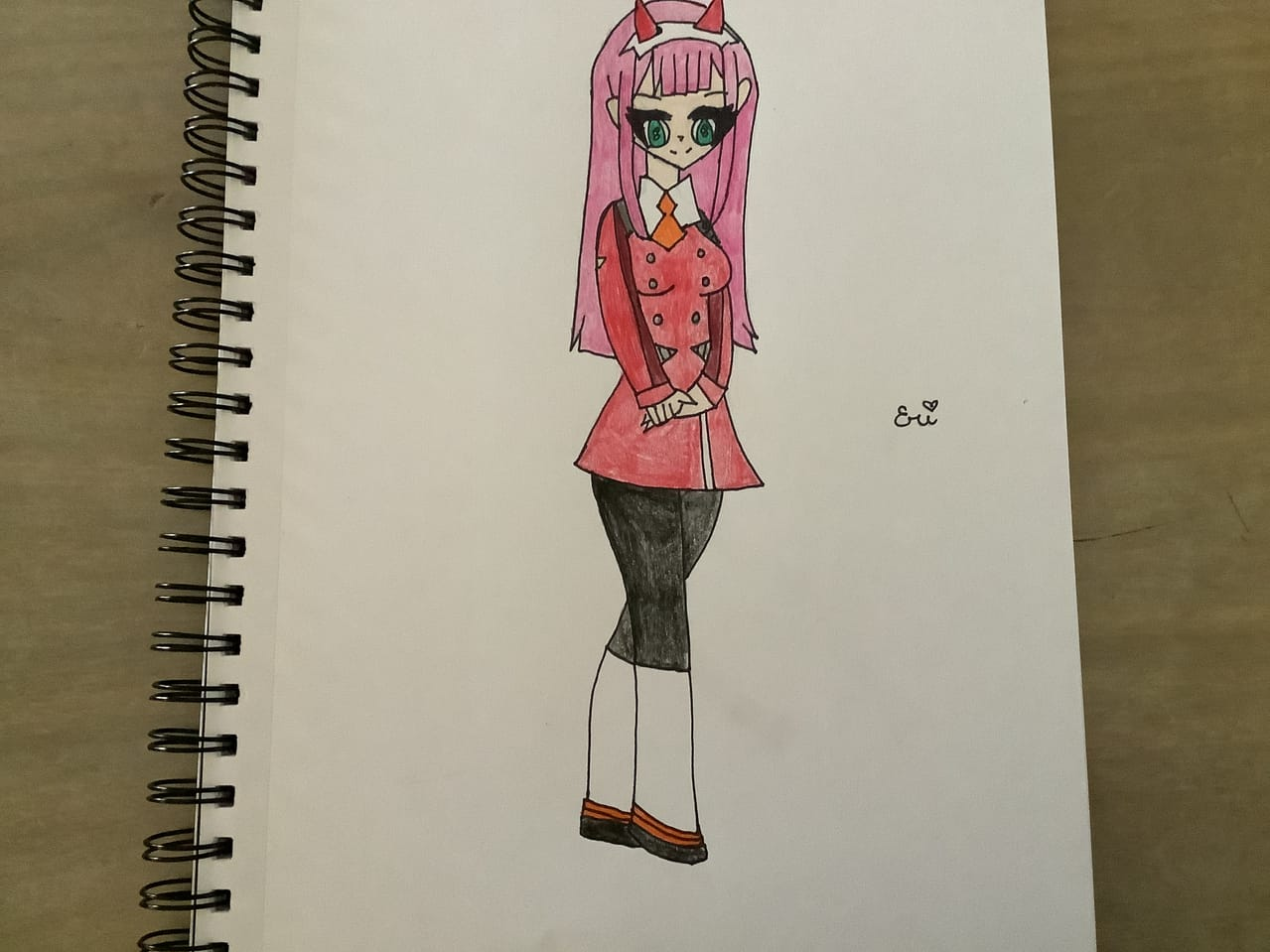 zero two Illust of Ɛɾì pink girl zerotwo animegirl fanart DARLINGintheFRANXX pinkhair