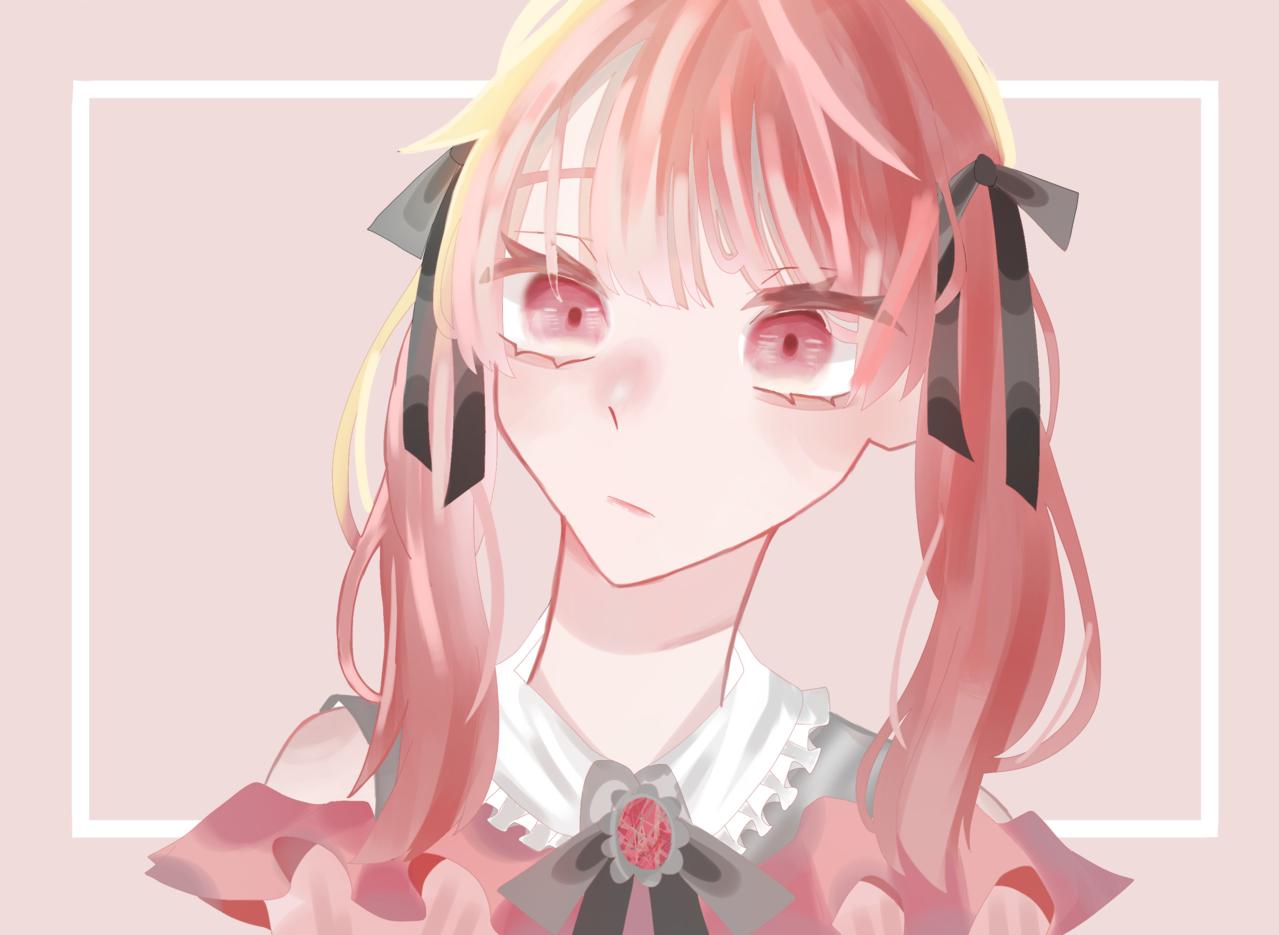 量産型オタク Illust of はんぺん cute angel pinkhair girl 厚塗りもどき