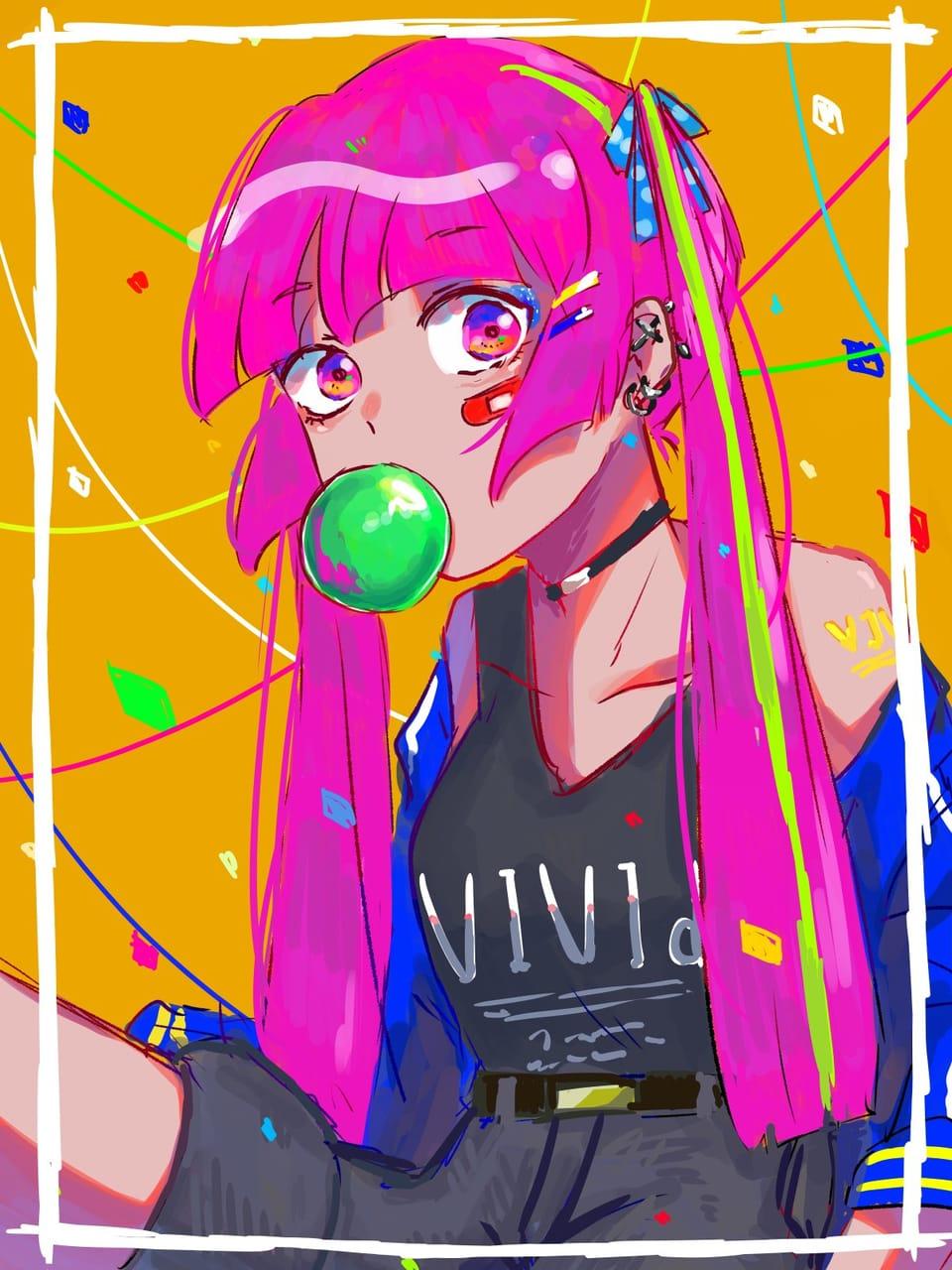 個性 Illust of はねづ ビビットカラー レッツワンドロ