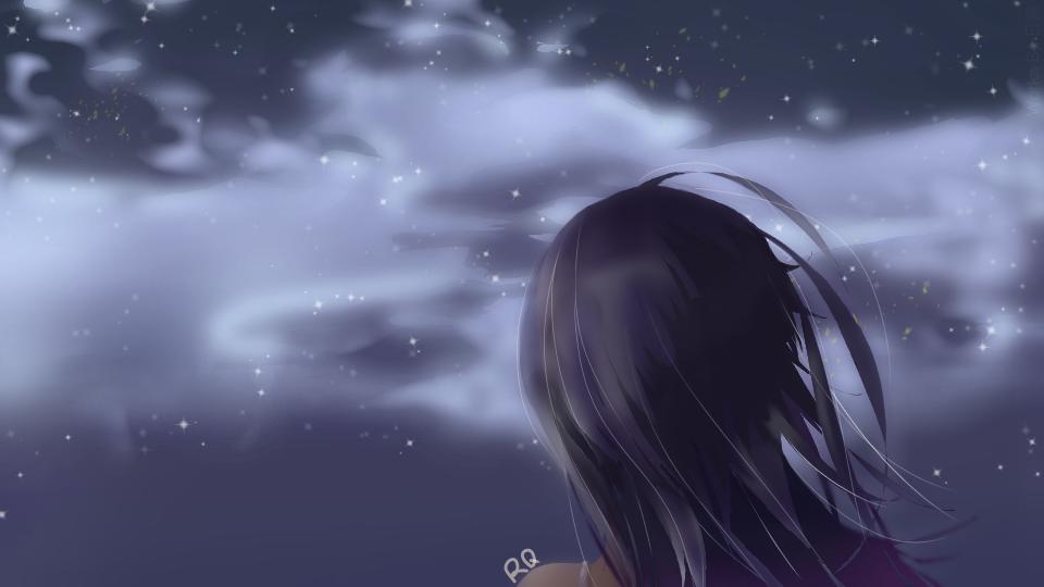 发现没有大星星好看点儿? Illust of 谭日青 medibangpaint sky 夜空