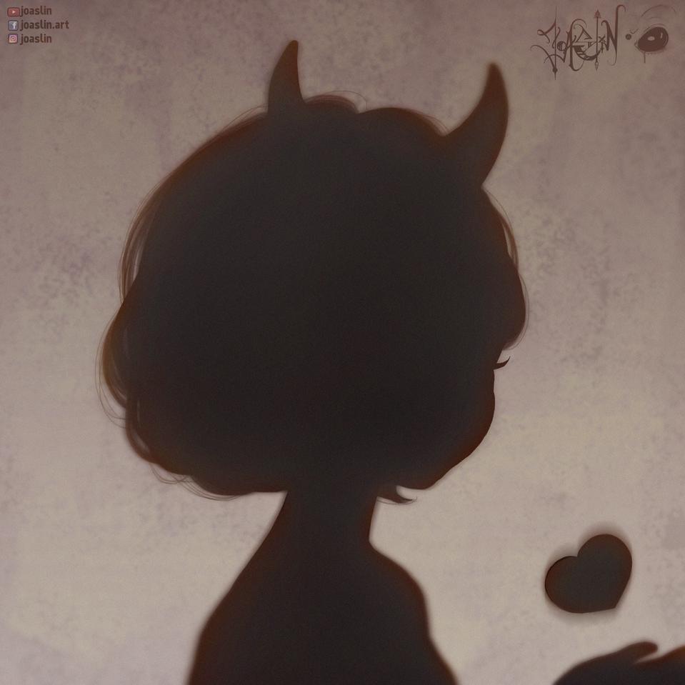 Shadows🖤 Illust of JoAsLiN ARTstreet_Ranking art Shadow demon heart manga original girl oc digital cute