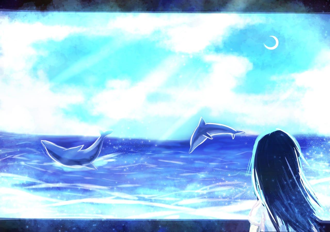 レッツワンドロ青 Illust of 88里 レッツワンドロ blue sea
