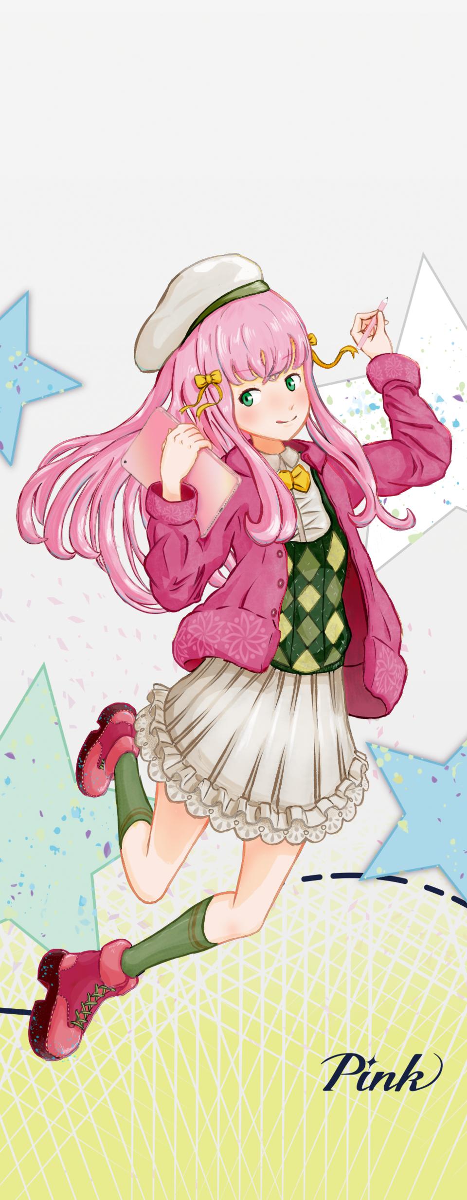 PASTEL SKETCH PINK Illust of 雲野浮游