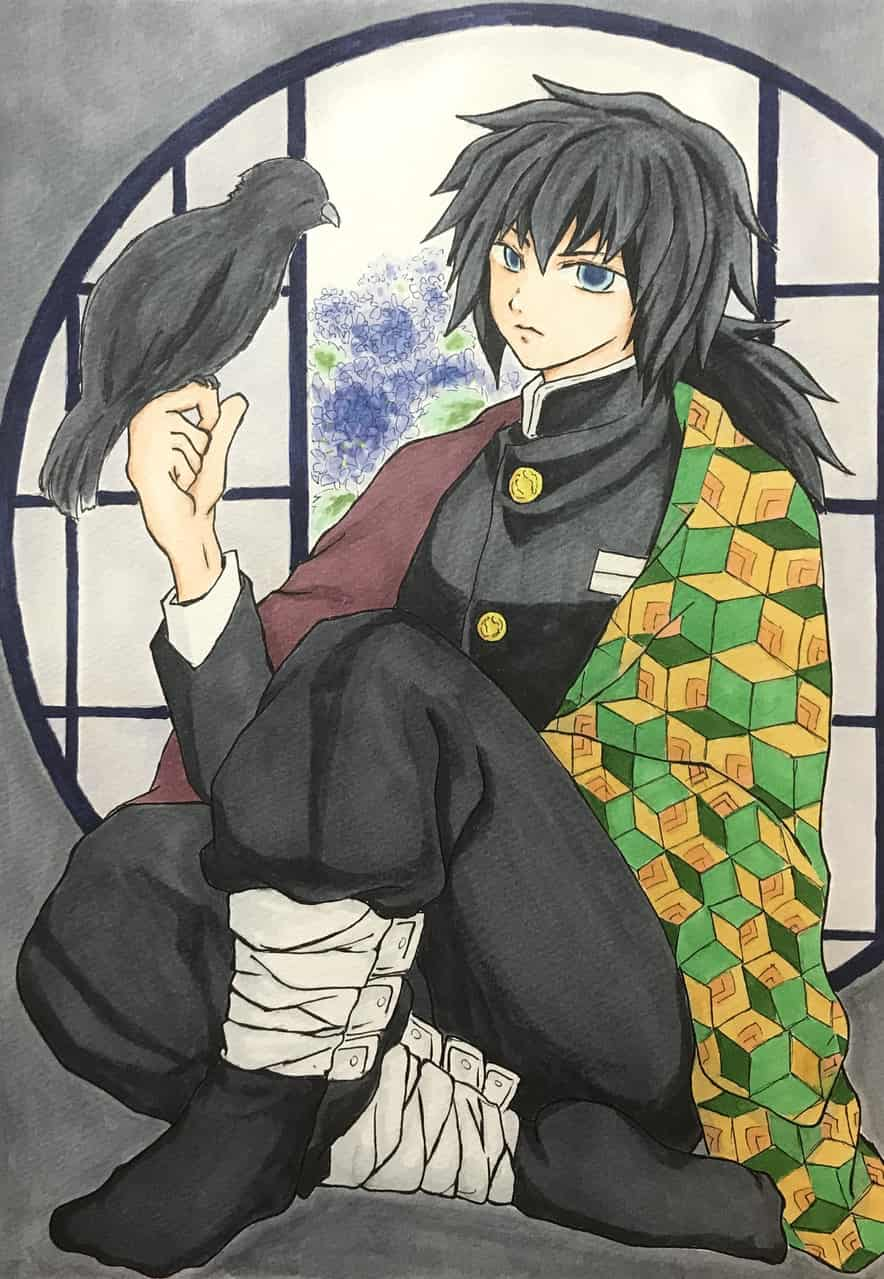 冨岡義勇 Illust of katze DemonSlayerFanartContest KimetsunoYaiba アナログ TomiokaGiyuu Copic