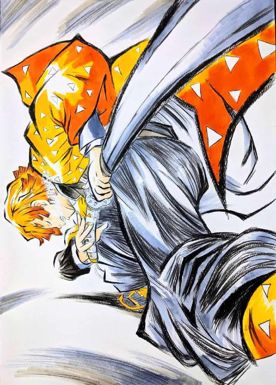 霹靂一閃! Illust of mamekazuma0304 DemonSlayerFanartContest KimetsunoYaiba AgatsumaZenitsu