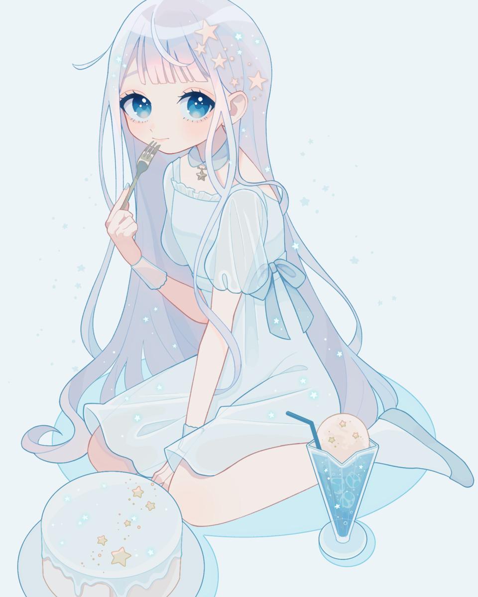 星の味 Illust of みんと January2021_Contest:OC medibangpaint blue スイーツ girl oc