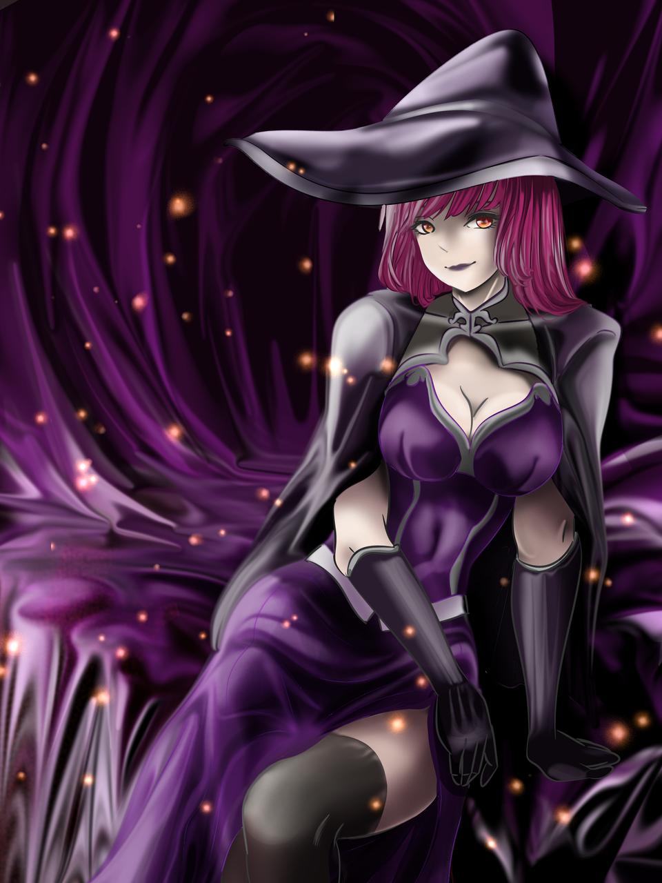 Halloween witch Illust of Akira Luca Oct.2019Contest