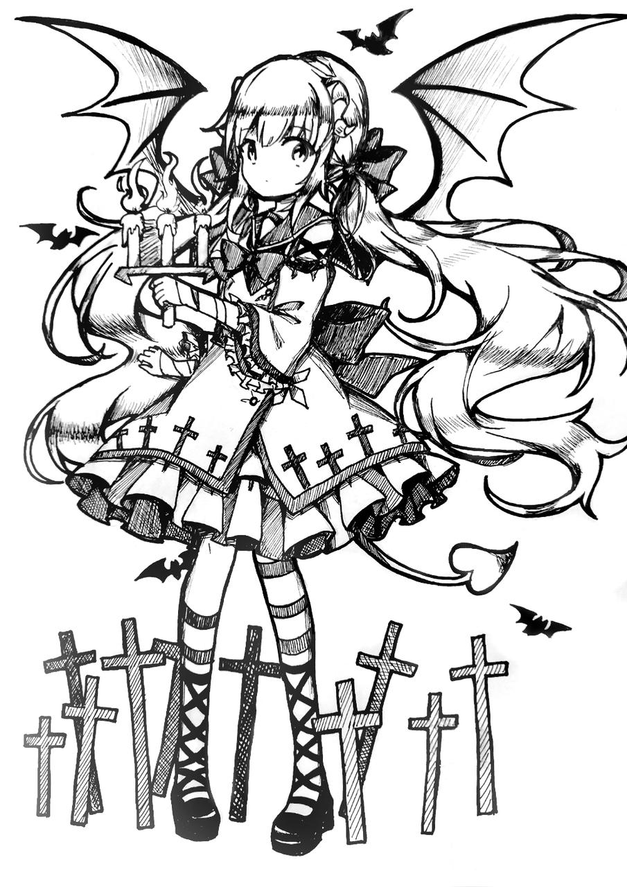 emmmm感觉还行吧…… Illust of 莫丸——!XD medibangpaint 原创少女 original