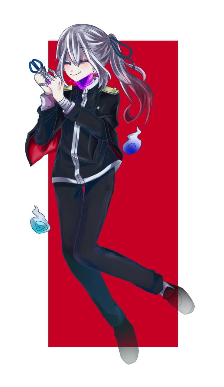 〚オリキャラ〛椿木ユウ 立ち絵? Illust of 墨野 蒼 boy 幽霊 oc 立ち絵 red
