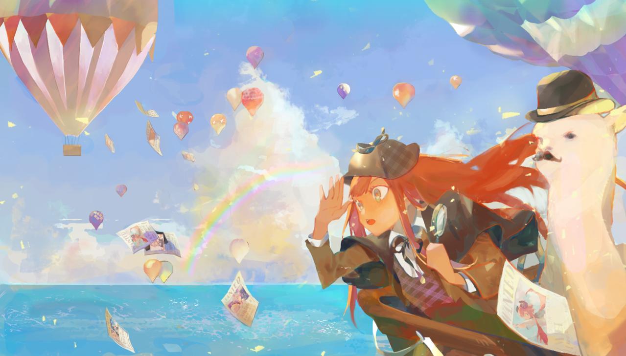 (⁎˃ᆺ˂) Illust of 森森慵懶 July2020_Contest:Anniversary pixelart drawing water girl cute art doodle sky medibang anime sketch