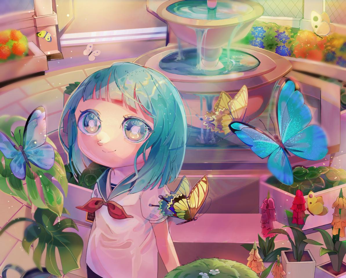 博物館 Illust of 姉猫 あつ森 girl あつまれどうぶつの森 game