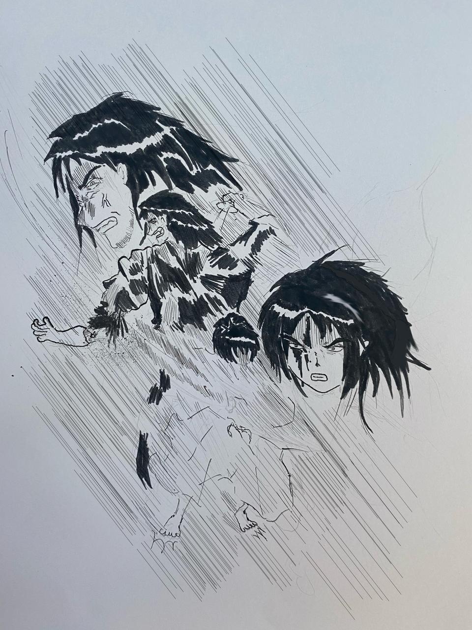 一騎打ち Illust of でップリン medibangpaint Comics 決闘 日本 時代劇 movie 侍