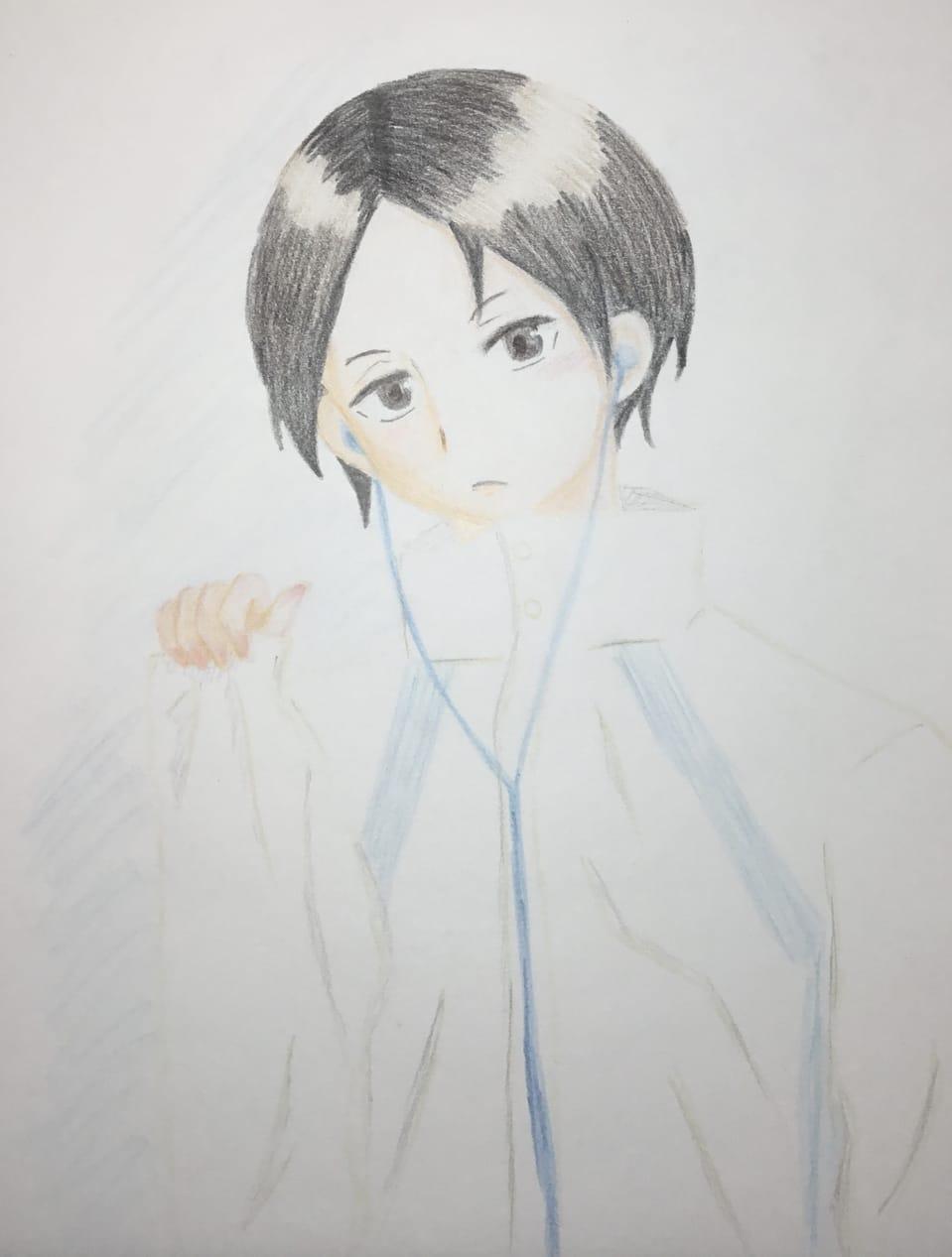 国見ちゃん(о´∀`о) Illust of わかな Haikyu!! coloredpencil 国見英 fanart