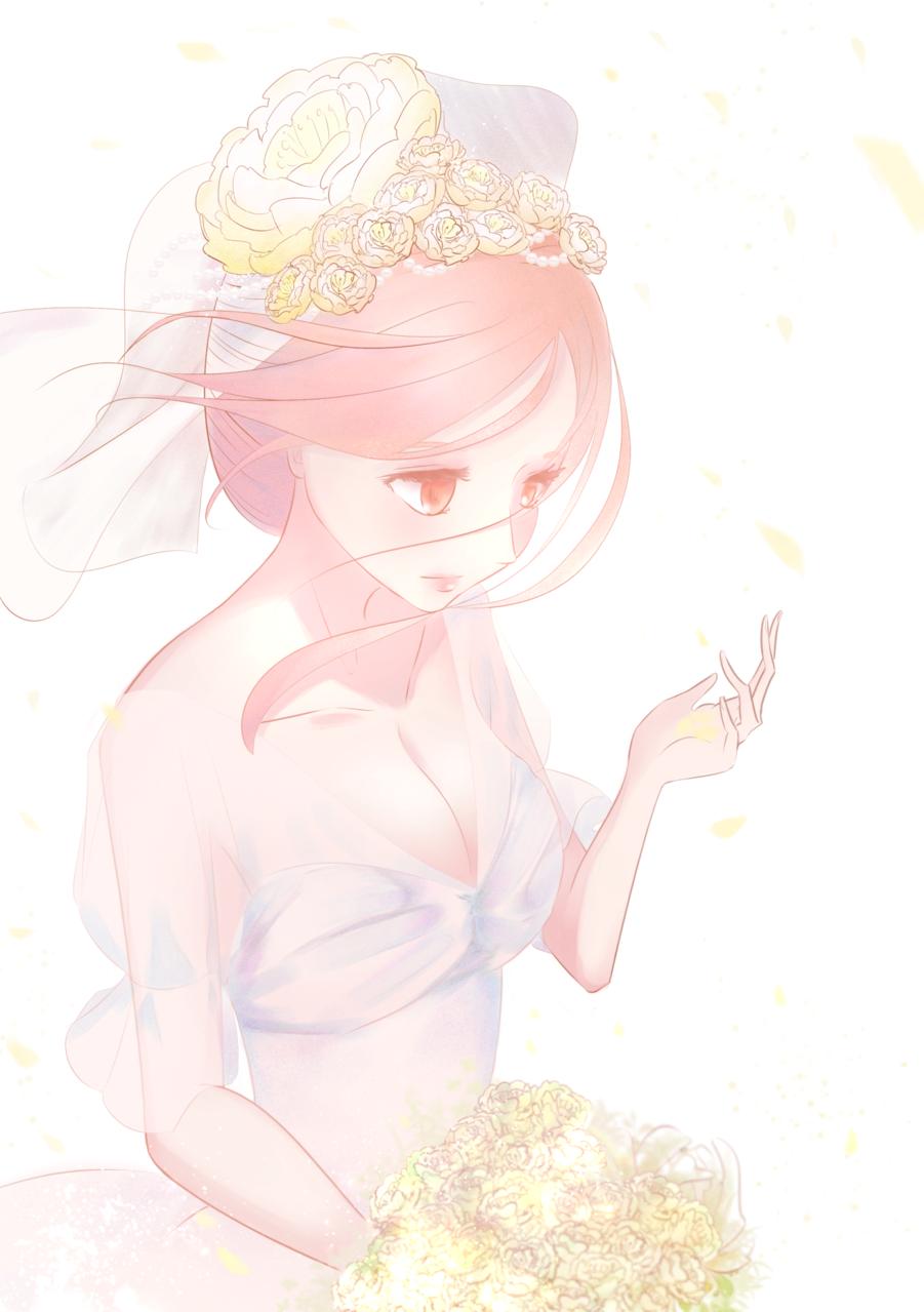 bouquet Illust of あやがたひまり bride original oc