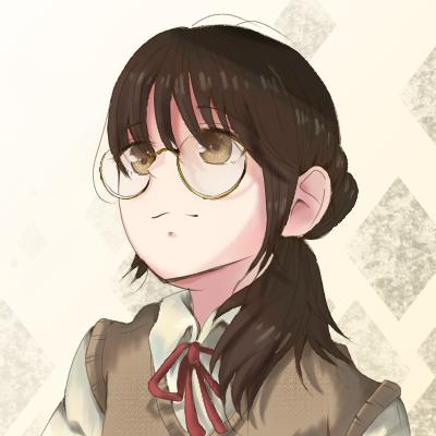 🎀 Illust of メル red medibangpaint illustration まるめがね girl ribbon oc メガネっ娘 glasses 茶色