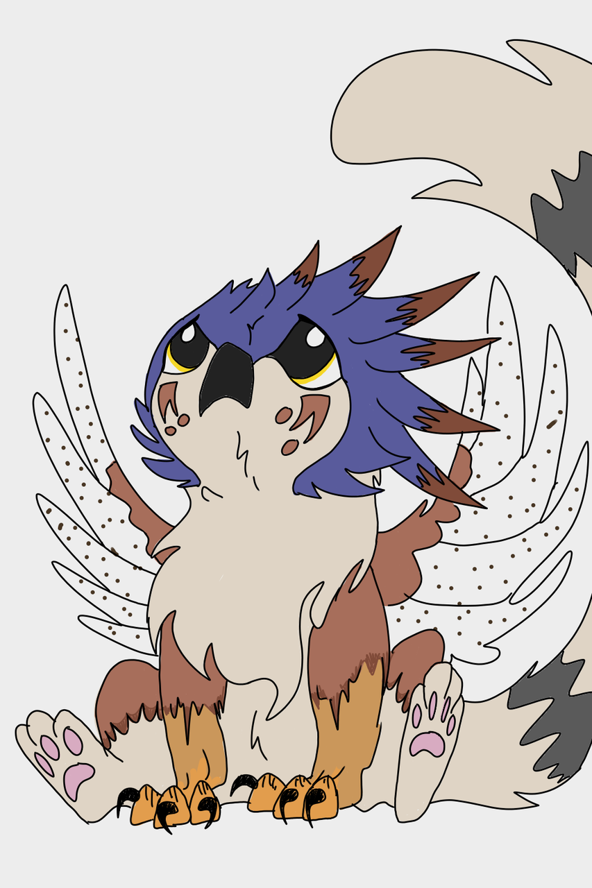 Griffin OC, Kestrel Illust of Amberfrost medibangpaint Griffin Kestrel oc Griffinbaby