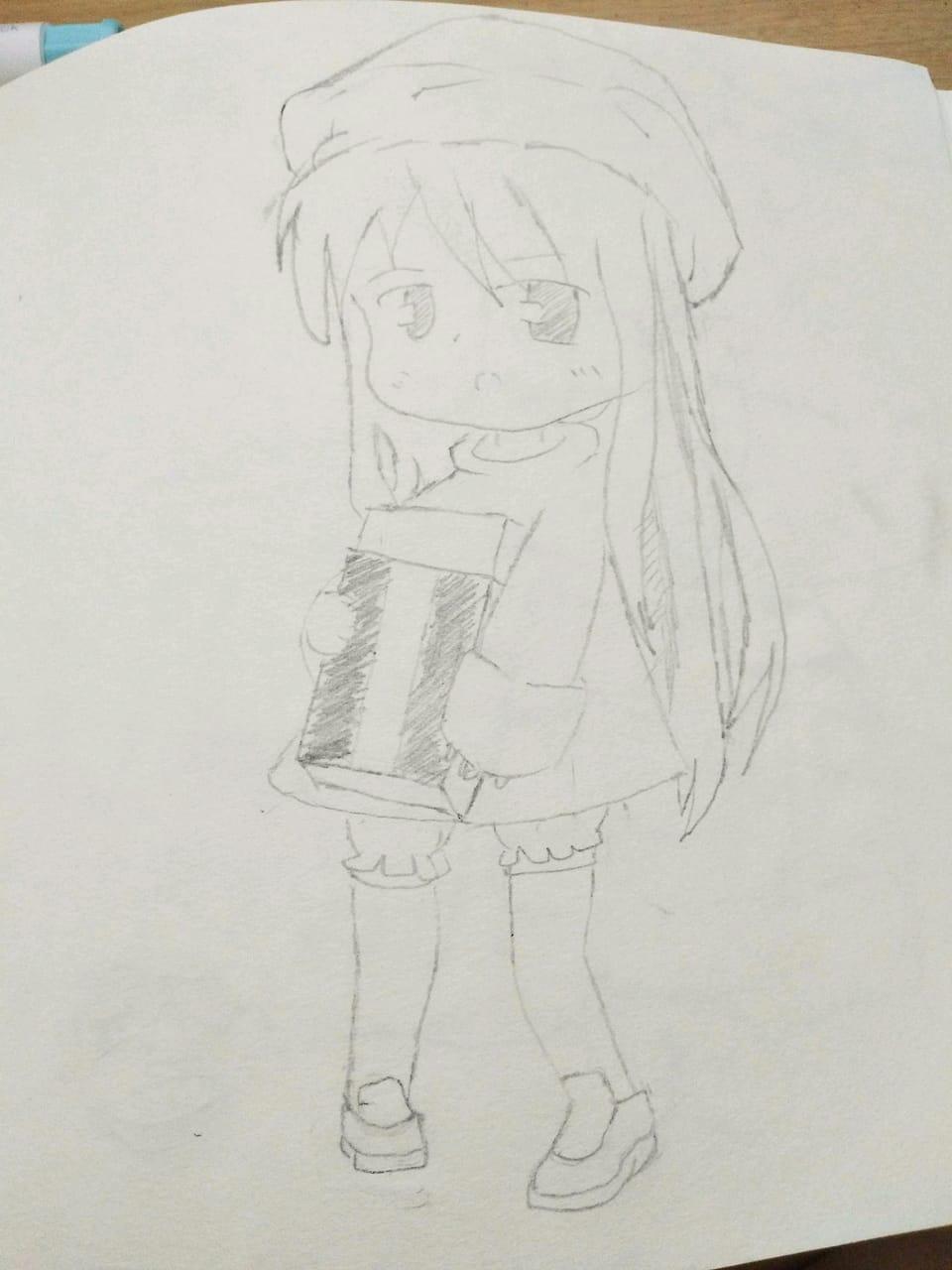 抱着橡皮的女孩 Illust of ꕥ᭄不亏不欠丫ꦿঞ AnalogDrawing girl ꕥ᭄不亏不欠丫ꦿঞ anime