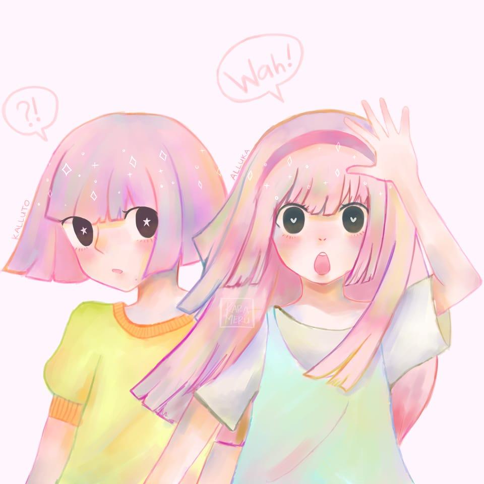 Zoldyck's Siblings - Kalluto & Alluka Illust of karameru anime AllukaZoldyck fanart hxhfanart digitaldrawing pastel illustration kalluto animefanart HUNTER×HUNTER