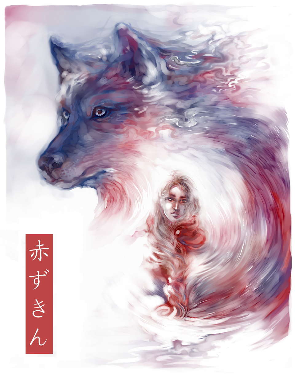 Little Red Riding Hood Illust of SophieJinny Aug.2019Contest 赤ずきん wolf
