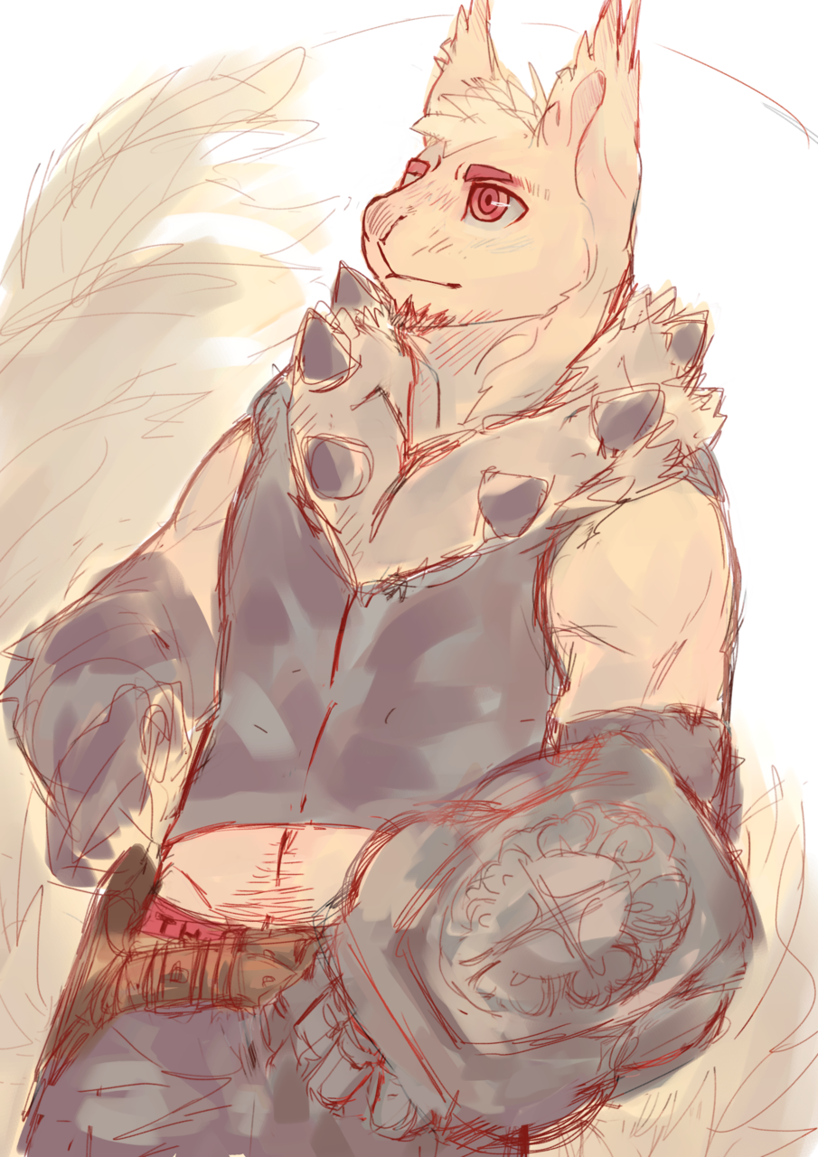 松鼠盾鬥士(Squirrel & Rocker Shield) Illust of 魯誕 September2020_Contest:Furry 獸人 魔物 搖滾 盾 monster 松鼠