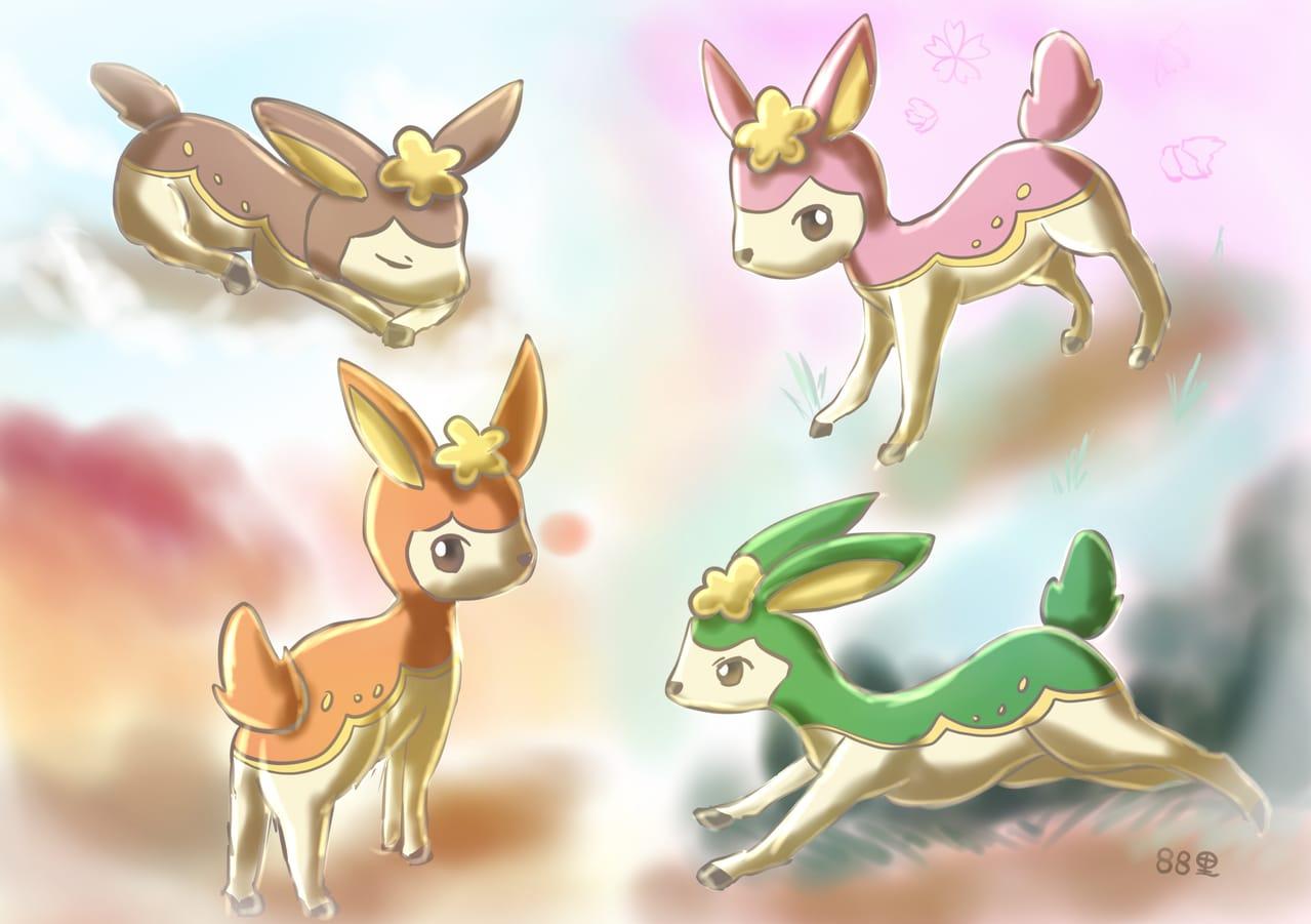 シキジカ Illust of 88里 シキジカ pokemon ポケモンBW