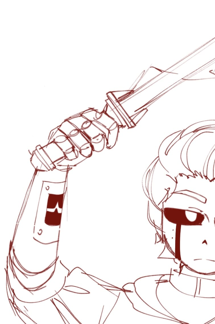 Announcements! Illust of CrossOut AU drawing WIP oc