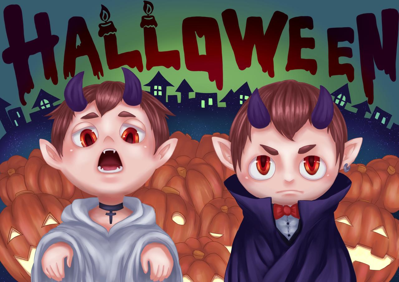 Boo!! Illust of ざきしのん Oct.2019Contest Halloween ハロウィンイラスト