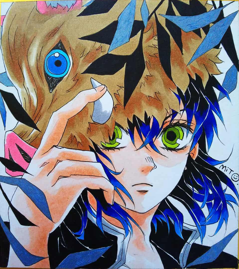 山の王。 Illust of ミト DemonSlayerFanartContest HashibiraInosuke KimetsunoYaiba コピックイラスト
