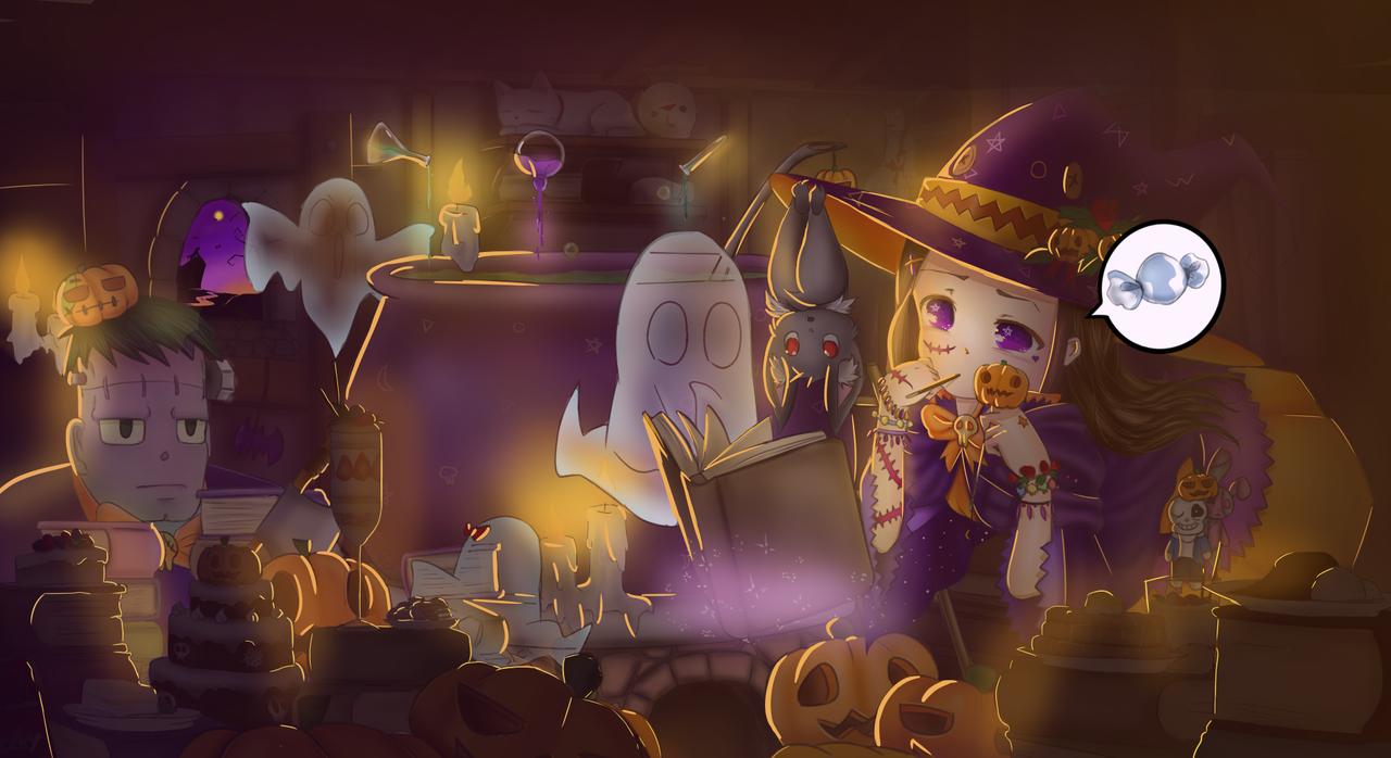 糖果制作 Illust of 小傑 Oct.2019Contest cute girl 日系 medibangpaint illustration Halloween
