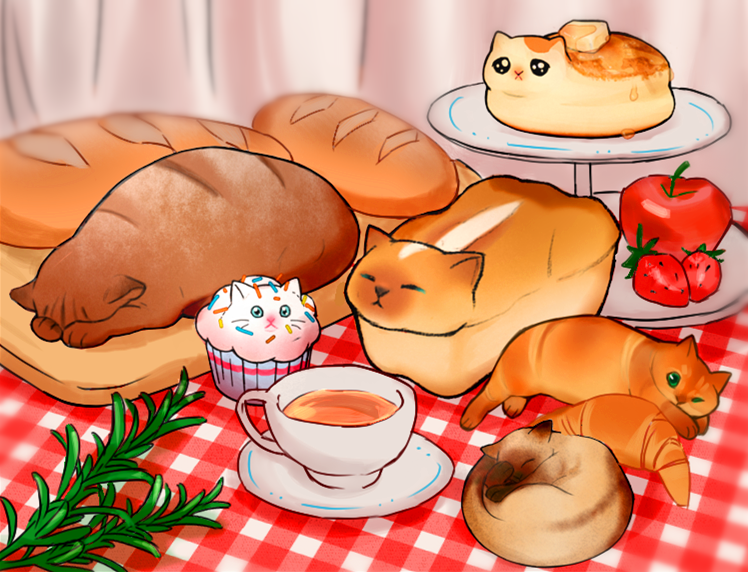 猫咪小面包cat bun! Illust of pena DOGvsCAT_CAT medibangpaint