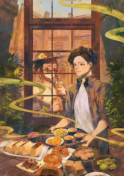 tea Illust of lsu food illustration building window original leaf