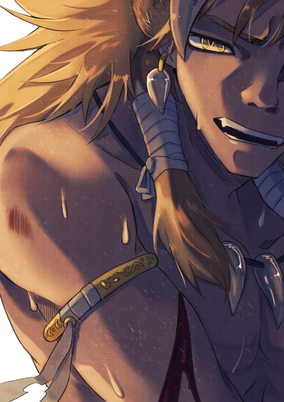 戰績 Illust of CrazyCowK sweat 大叔 oc commissionsopen muscle Lion
