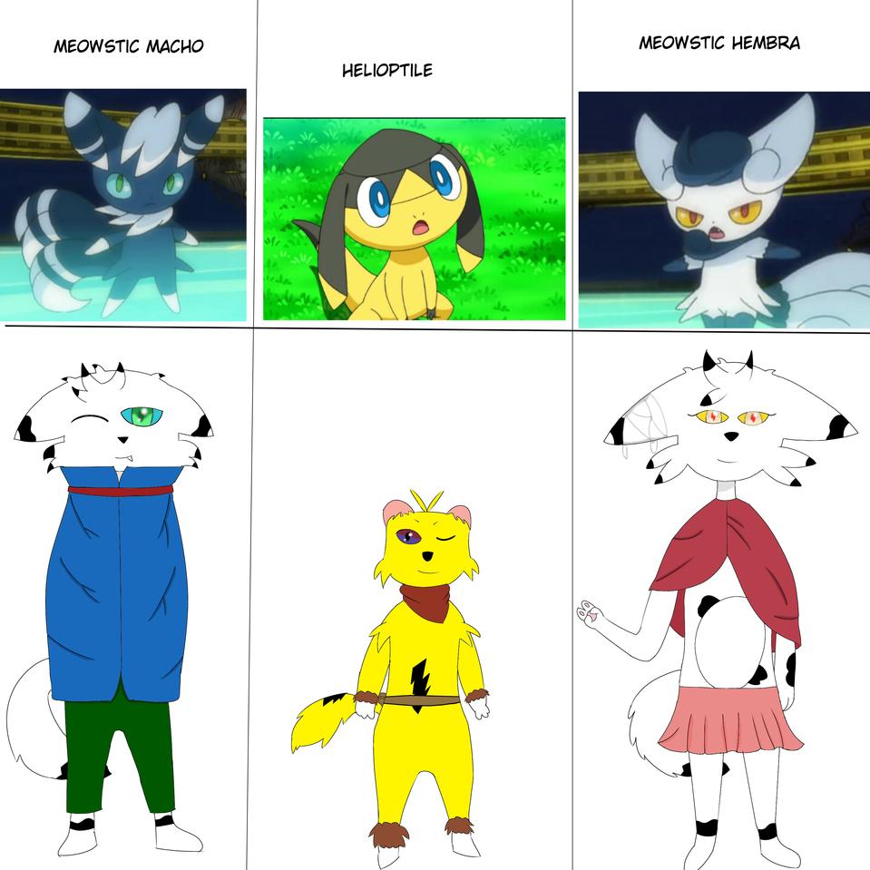 los pokemones en los que me ispire