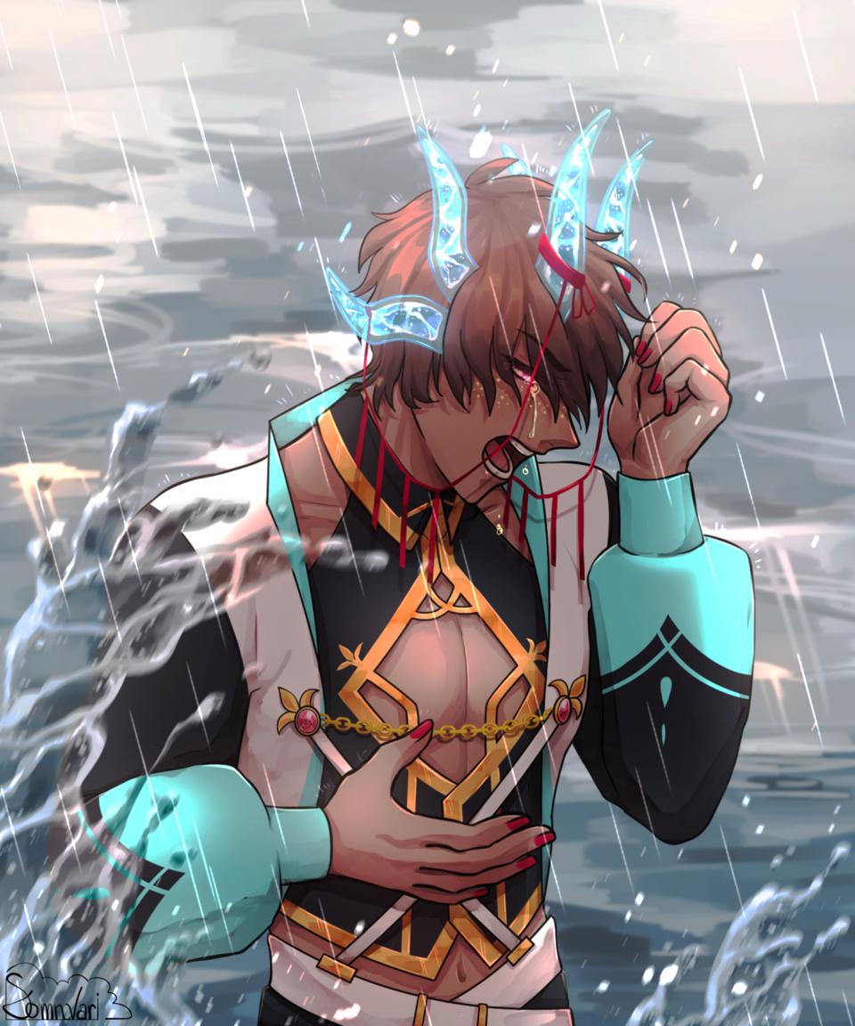 Emotion Illust of Somnvari fantasy dragon MyArt kemonomimi digital illustration myoc oc