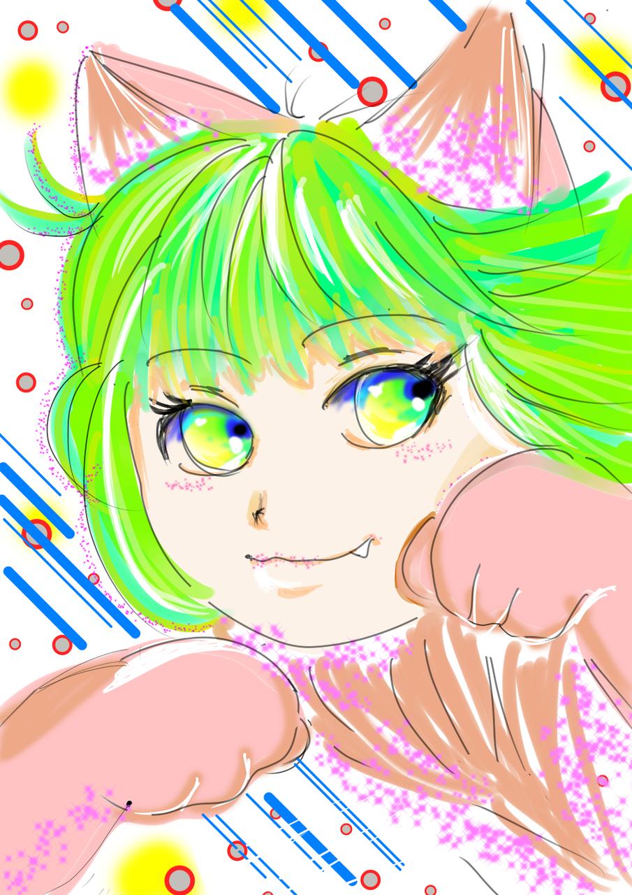 デジタル練習 その3 Illust of おかかうめ medibangpaint doodle girl practice digital original cat_ears kawaii